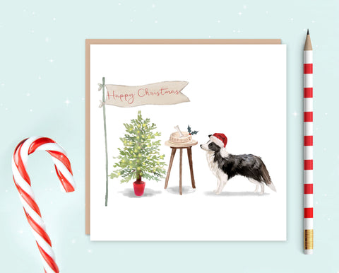 Border Collie Christmas Card - Pack of 10 - Christmas Gift for Dog Lovers