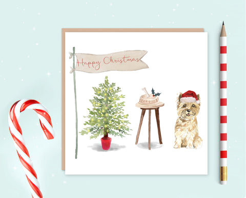 Cairn Terrier Christmas Card - Pack of 10 - Christmas Gift for Dog Lovers