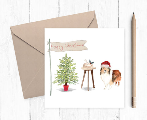 Shetland Sheepdog Christmas Card - Christmas Gift for Dog Lovers