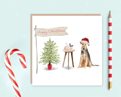 Welsh Terrier Christmas Card - Pack of 10