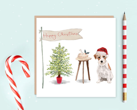 Jack Russell Christmas Card - Pack of 10 - Christmas Gift for Dog Lovers