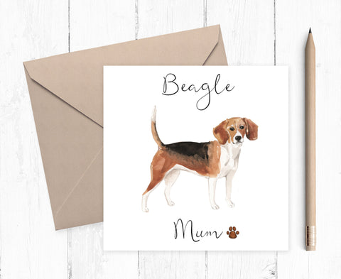 Beagle Mum Card - ideal gift for Mother's Day