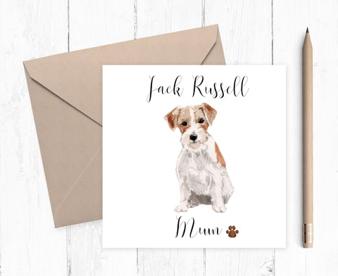 Jack Russell Mum Card - ideal gift for Mother's Day