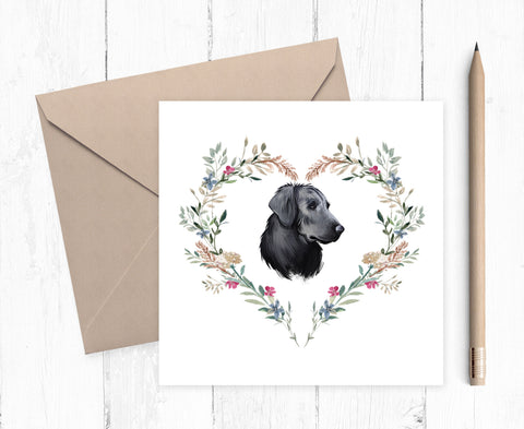Flat Coated Retriever Card