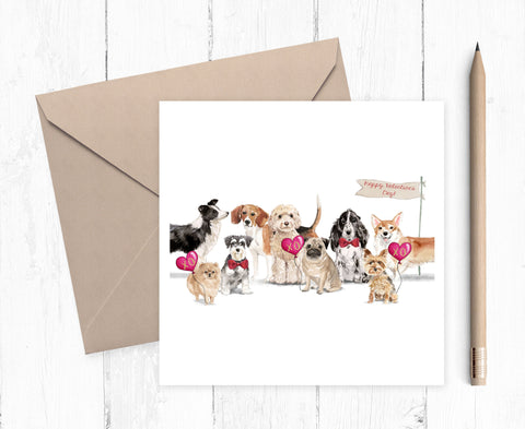 Dog Valentine Cards - Valentine Gift for Dog Lovers - valentine card for dog lovers - dog mum card - dog dad card