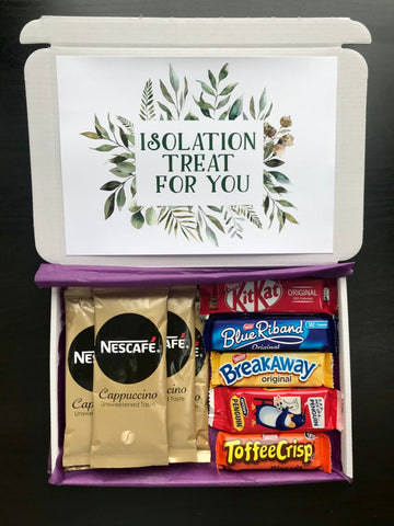 Lockdown Coffee and Biscuits Gift - Personalised Present - Personalised Lockdown Gift - Letterbox Gift - Isolation gift - care worker gift