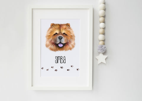 Chow Chow Dog Portrait - Ideal Gift for Dog Lovers - Chow Chow owner gift - Chow Chow