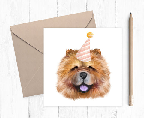 Chow Chow Birthday Card - Chow Chow Card - Chow Chow Birthday Gift - Card for dog lover - Chow Chow owner gift - Chow Chow Dog