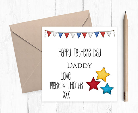 Father's Day Card - Personalised Father's Day Card - Daddy Card - Grandad Card - Dad Card - Grandpa Card - Nonno Card