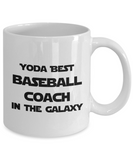 Yoda Best Baseball Coach In The Galaxy - 11 Ounce Mug