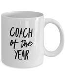 Coach of the Year - version 3 - 11 Ounce Mug