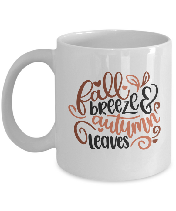 Fall Breeze & Autumn Leaves - 11 Ounce Mug