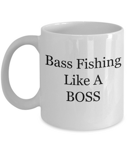 Bass Fishing Like A BOSS - 11 Ounce Mug