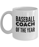 Baseball Coach of the Year - version 2 - 11 Ounce Mug