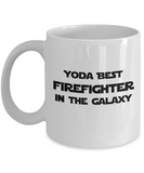 Yoda Best Firefighter In The Galaxy - 11 Ounce Mug