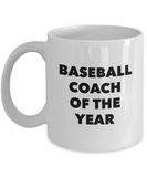 Baseball Coach of the Year - version 1 - 11 Ounce Mug