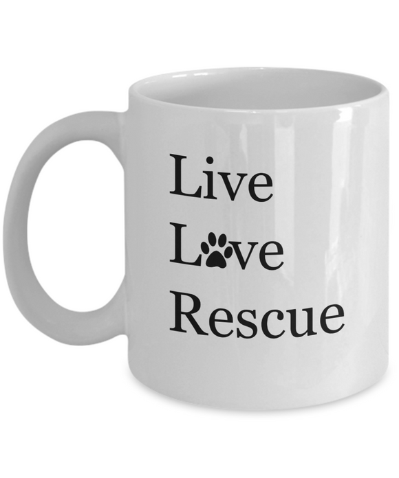 Live Love Rescue - 11 Ounce Mug