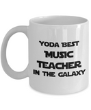Yoda Best Music Teacher In The Galaxy - 11 Ounce Mug