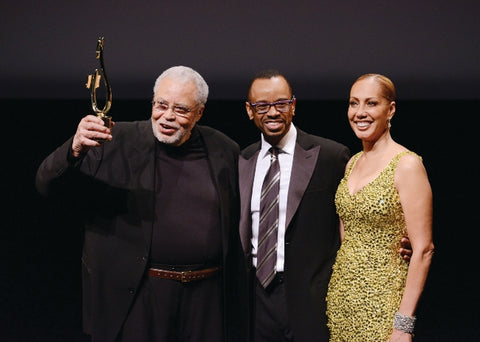 James Earl Jones, Rudy Gaskins and Joan Baker at the 2016 Voice Arts Awards.