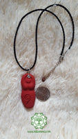 Goddess (Divine Feminine, Divine Mother) base chakra necklace in matte red with Brecciated Jasper