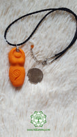Goddess (Divine Feminine, Divine Mother) sacral chakra necklace in orange with Carnelian bead
