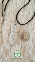 Goddess (Divine Feminine, Divine Mother) Crown Chakra Necklace in pearly white with Quartz bead