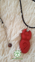 Goddess (Divine Feminine, Divine Mother) root chakra necklace in shimmery red with Red Tigers Eye bead