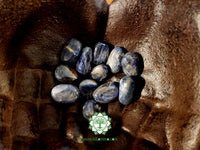 Blue Sapphire (Blue Corundum, Blue Ruby) medium tumbled crystal .75 inch