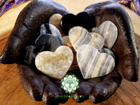 Onyx Worry Stone heart shaped 2 inches