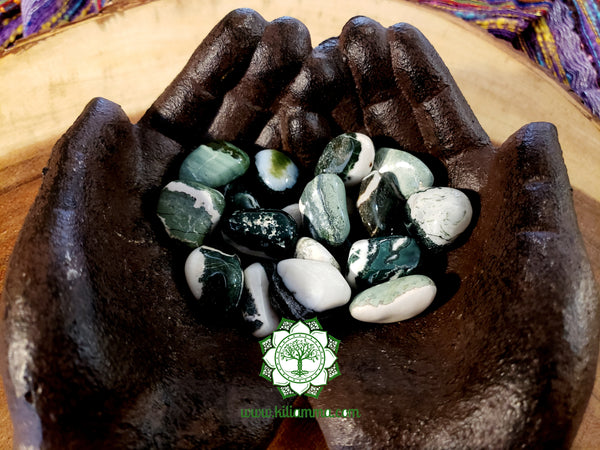 Green Sardonyx medium tumbled crystal .75 inch