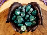 Green Agate large tumbled crystal 1 inch
