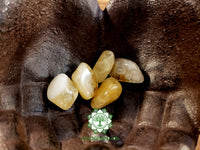 Citrine medium tumbled crystal 1 inch