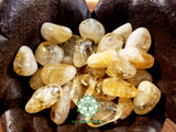Citrine AA Grade medium tumbled crystal 1 inch
