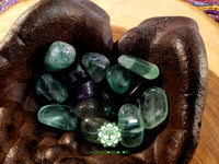 Rainbow Fluorite medium/large tumbled crystal 1 inch