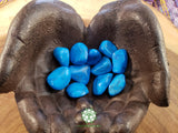 Blue Howlite medium tumbled stone 1 inch