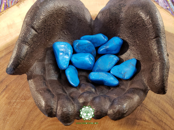 Blue Howlite large tumbled stone 1.25 inch