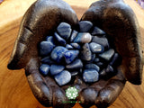Blue Quartz (Dumortierite) small tumbled stone .75 inch