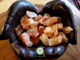 Red Calcite small rough stone .75-1 inch