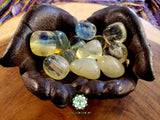 Yellow Obsidian large tumbled crystal 1 inch