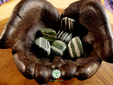 Green Zebra Stone large/Xl tumbled stone 1-1.25 inch