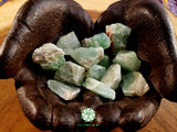 Green Calcite small rough crystal 1 inch
