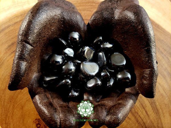 Hematite small tumbled crystal .75 inch