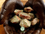 Unakite medium rough crystal 1.5 inches