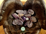 Light Amethyst from Brazil medium tumbled stone 1 inch