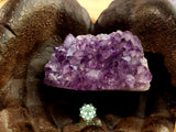 Uruguayan Dark Amethyst polished cut-based cluster 2.8x1.6x1.4 inches (AC02)