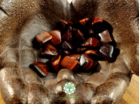Red Tiger Eye medium tumbled crystal  .75 inch