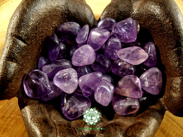 Amethyst small tumbled stone .75 inch