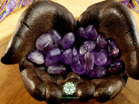 Amethyst medium tumbled stone 1 inch