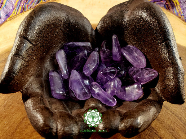 Amethyst large tumbled stone 1.25 inches