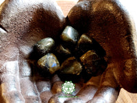 Labradorite B grade medium tumbled crystal 1 inch